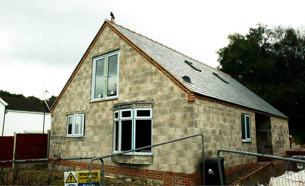 The exterior of David Snell's self build project begins to take shape and is jazzed up with a finial on the roof