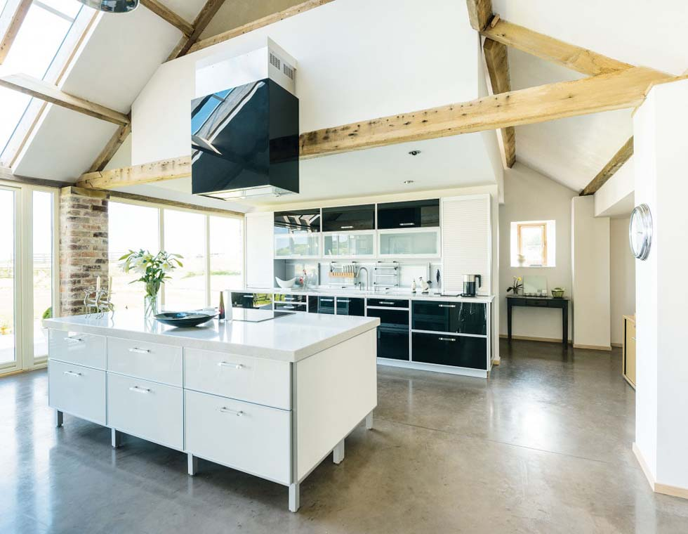 Contemporary Kitchen In A Converted 300 Year Old Barn