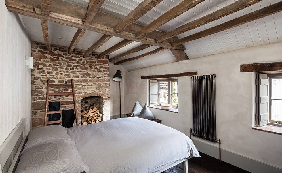Restored cottages fit for modern living homebuilding First floor master bedroom