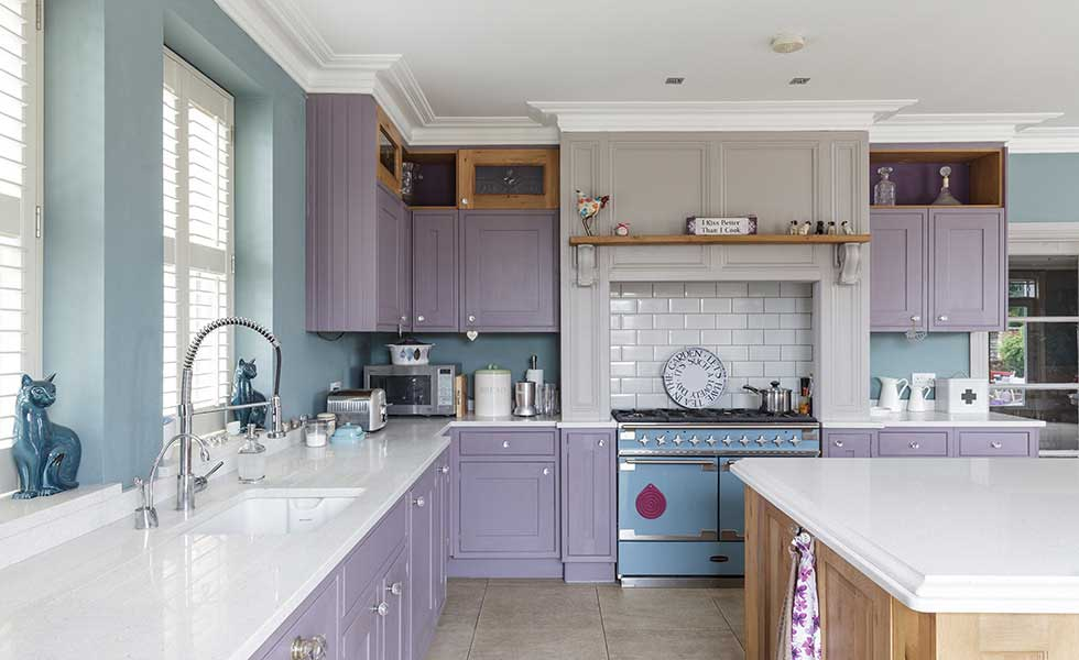 Kitchen in converted Victorian school