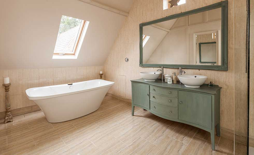 Bathroom in converted Victorian school