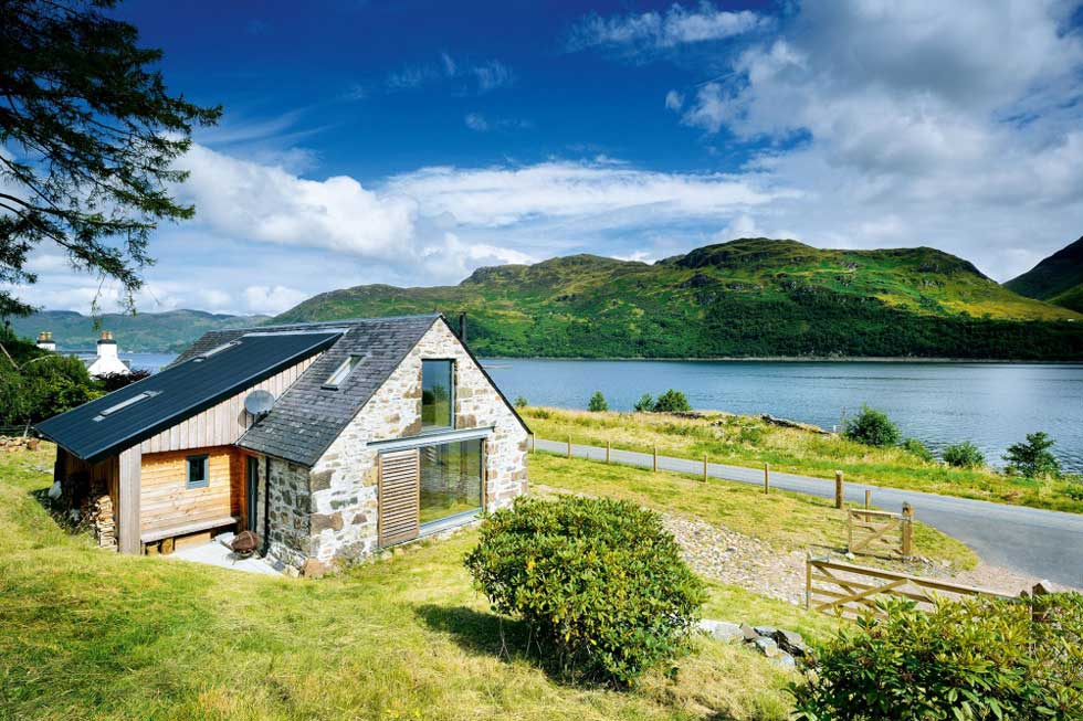 loch side stone barn conversion