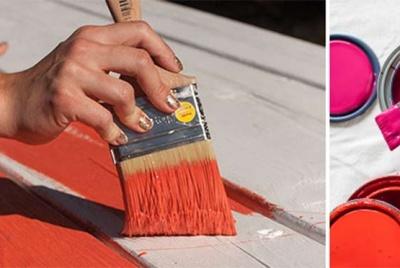 sherwin hand paint orange wood