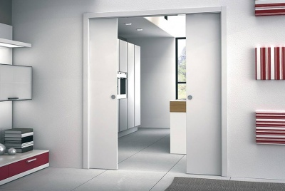 eclisse space saving minimal white door