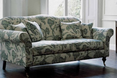wesley barrell green patterned sofa