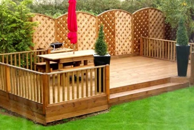 shawfield timber garden decking bbq fence