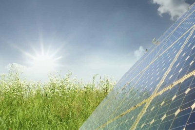 eartheat solar panel grass sky sun