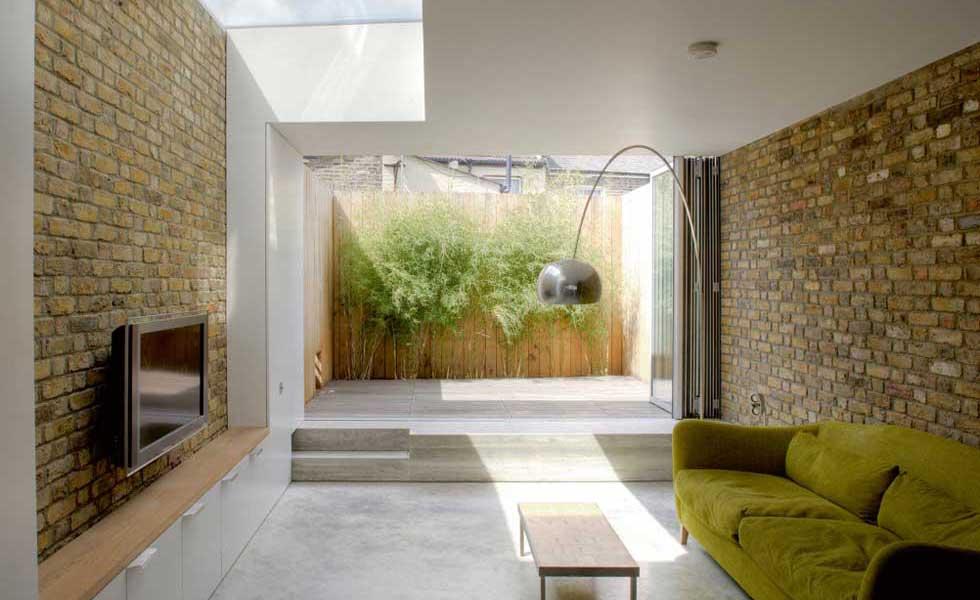 Victorian terrace with bi-fold doors to garden and concrete floor