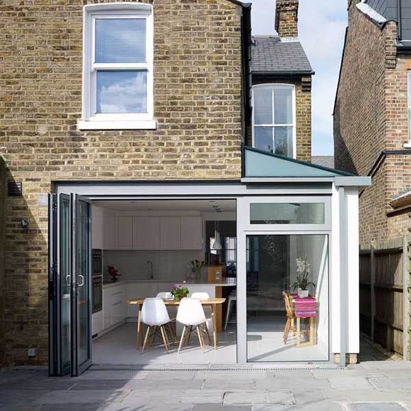 contemporary kitchen extension on Victorian terraced home
