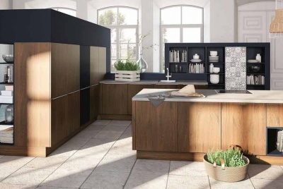 Alno kitchen wood oak plants interior