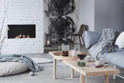Scandinavian design in living room