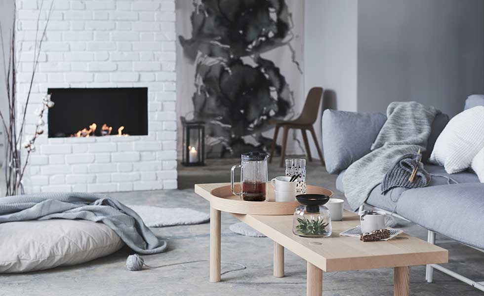 Scandinavian design in living room