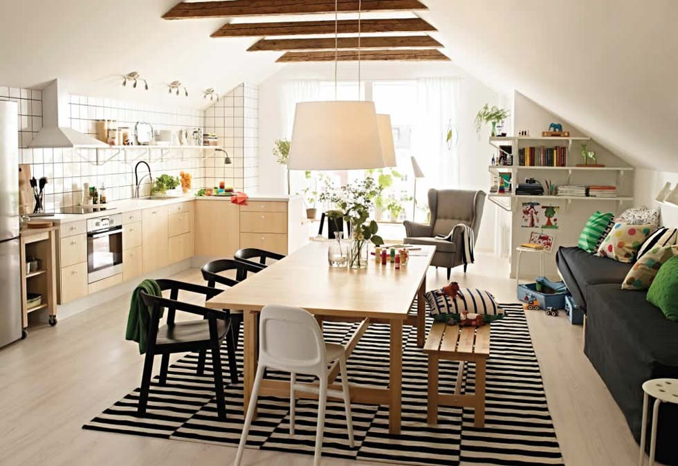 Scandi-style kitchen diner