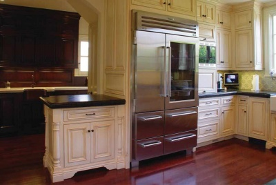 Freestanding kitchen furniture homebuilding renovating osborne unfinished cabinetry kitchen american fridge interior solutioingenieria Gallery