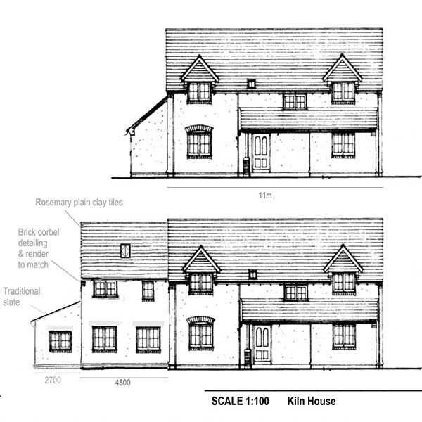 front elevation drawings attached to Ian Rocks planning permission application