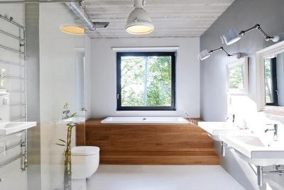 Schueco aluminium windows architectural glazing bathroom
