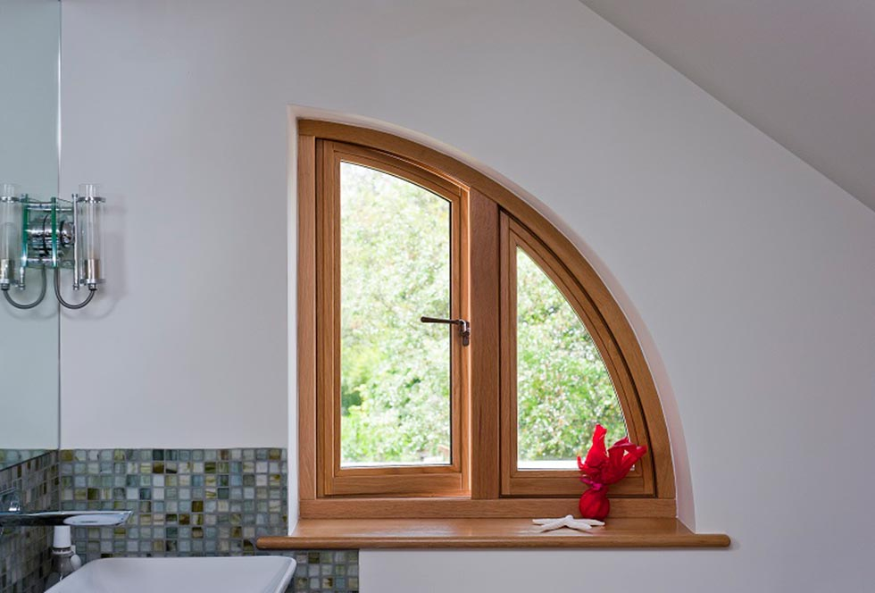 george barnsdale curved window timber frame glazing