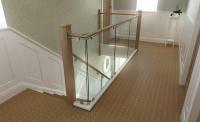 staurfurb oak stair staircase stairway landing hallway banister balustrade glass