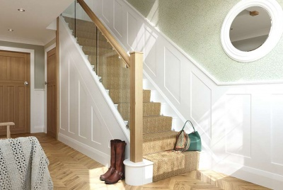 stairfurb stairs hallway landing boots