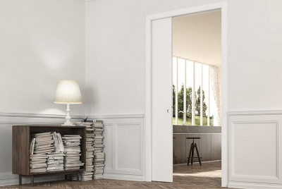 eclisse single sliding pocket door space saving interior