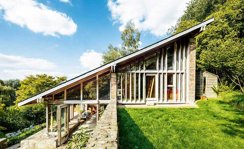 1960s self build on a sloping site renovated