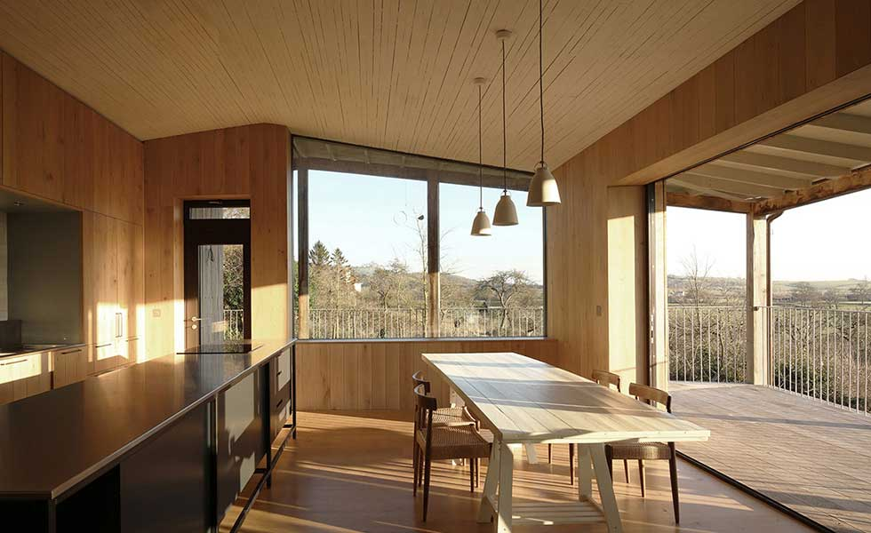 Self build Passivhaus kitchen diner