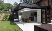 Yes glazing solutions Sunflex Bifolding and Sliding Doors exterior open corner