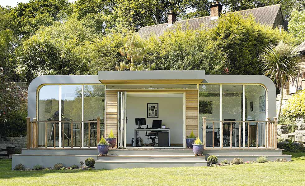 12 home office design ideas homebuilding renovating for Garden office ideas uk
