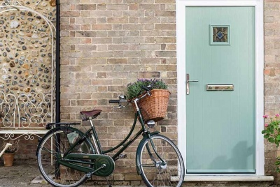 everest green front door bicycle