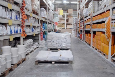 building materials in a builders merchants
