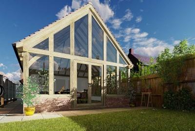 oak & home glazed timber extension