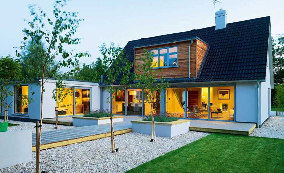 remodelled bungalow with clad dormer