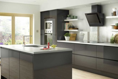 High gloss kitchen from B&Q