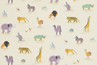 wardgroup childrens wallpaper zoo animals