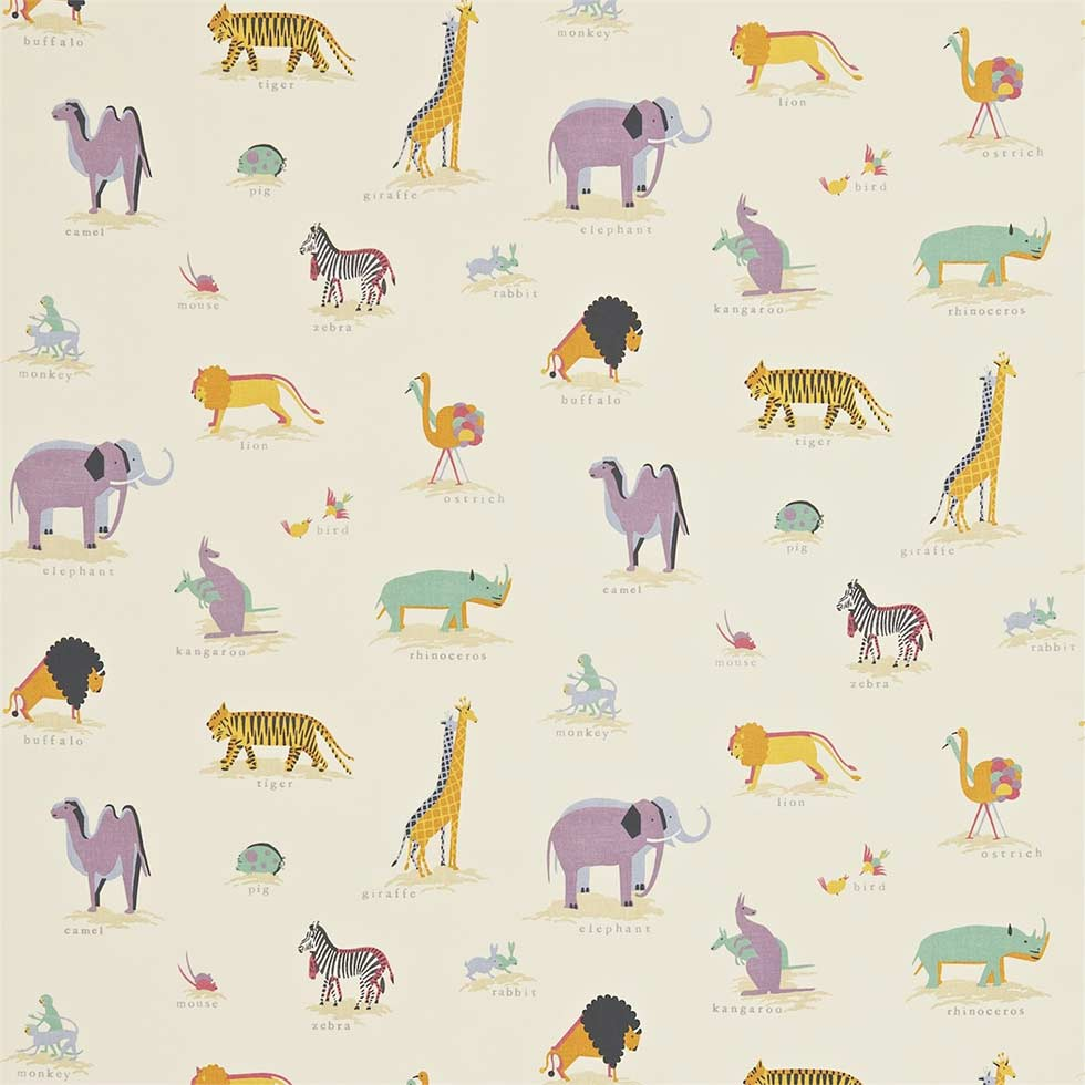 wardgroup childrens wallpaper zoo animals