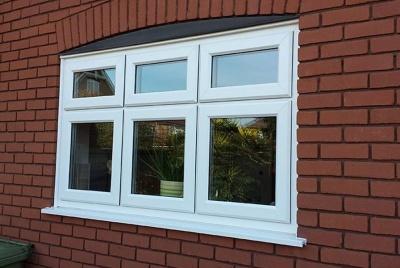 collier row glass rehau window