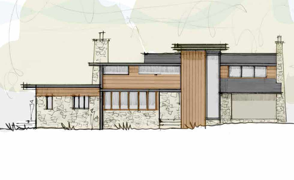 The Design Sketch Of Jason Ormeu0027s Renovation Project To Transform His 1960s  House Into A Mid