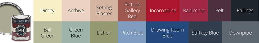 rainclear colour chart paint