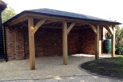 tradoak Air Dried Oak Car Port