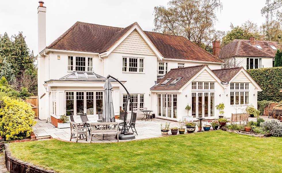 Traditional house with rendering