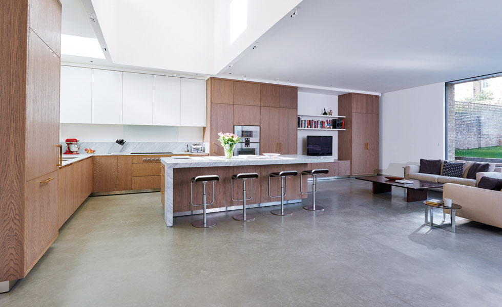 lazenby Light Natural polished concrete floor kitchen diner