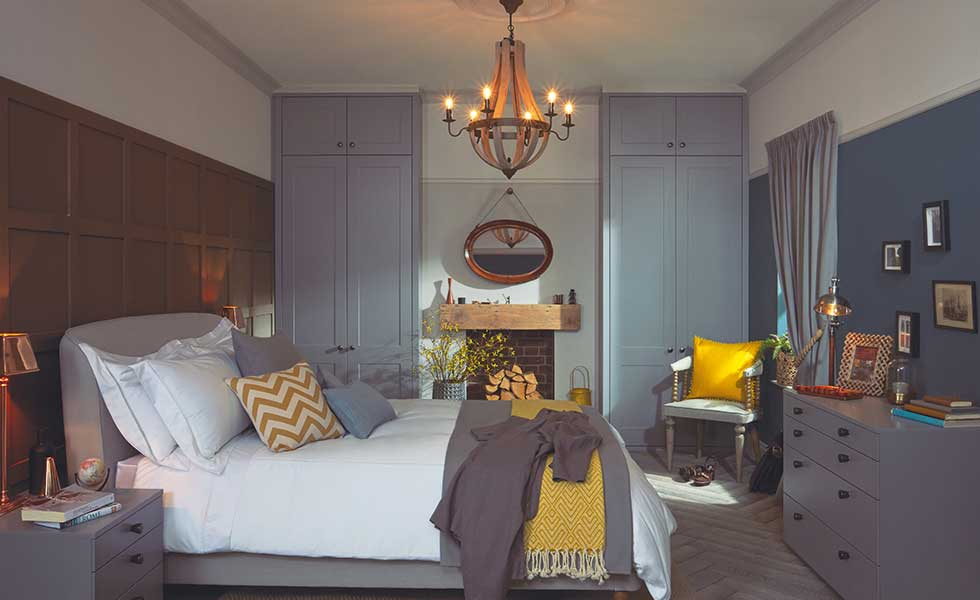 Built in wardrobes from Kindred in this master suite help to keep the space organised