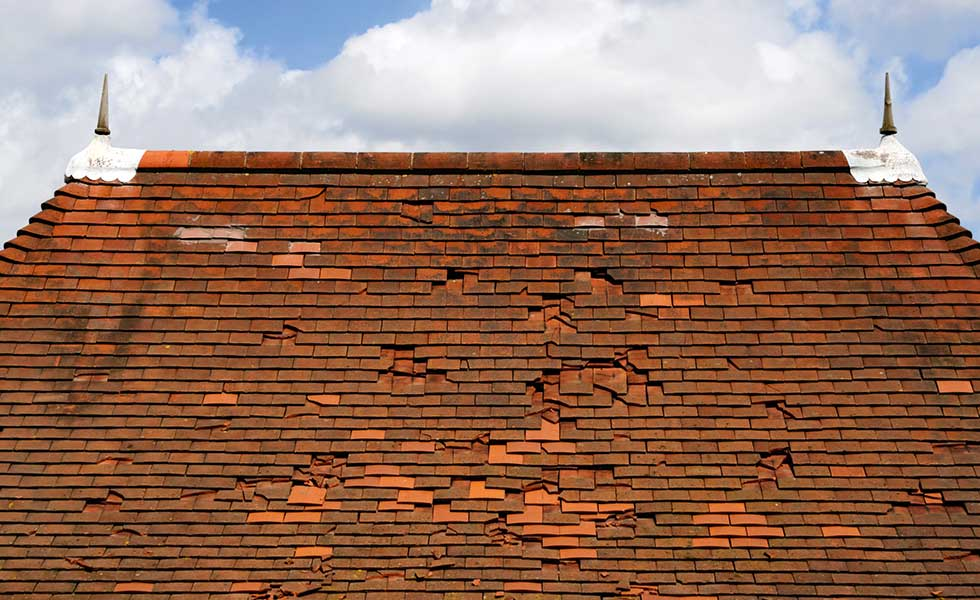 a roof with slipped tiles might be a sign that a renovator looks out for when buying a home