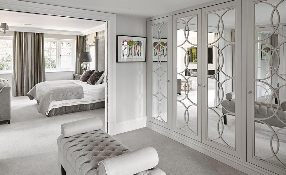 Dressing room with Empire Mirror Wardrobe