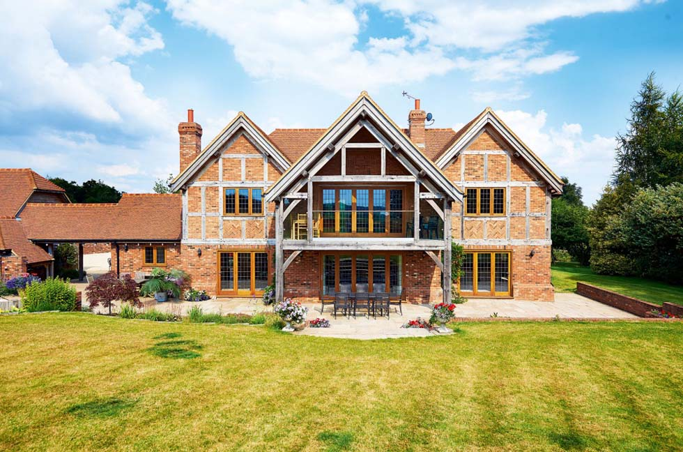 an oak frame home with ground source heat pump