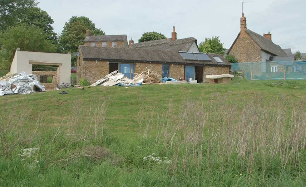 a stable conversion project on a sloping site in Oxfordshire