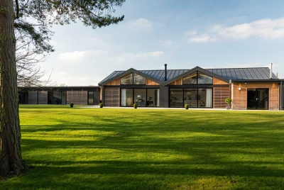 Single storey cedar clad accessible home
