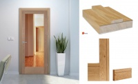 GREEN TREE Pre-Finished Oak Shaker 1 Light Clear Glass Door Set with Prefinished Door Lining & Architrave
