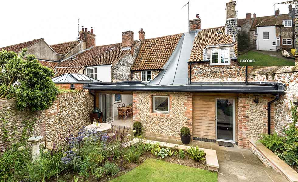 The before and after transformation of a listed cottage in Norfolk