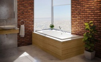 Bathroom Discount Centre bath brick wall